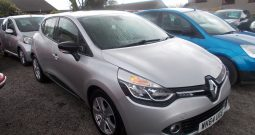 Renault Clio 0.9 TCe ( 90bhp ) MediaNav ( s/s ) 2013MY Dynamique, 5DR, H/B, SILVER MET, 37000 MILES ONLY, £20 ROAD TAX, VERY CLEAN EXAMPLE