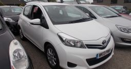 Toyota Yaris 1.33 VVT-i ( 99bhp ) 2012MY TR, 5DR, H/B, WHITE, CORNISH, LOW MILES, VERY CLEAN EXAMPLE