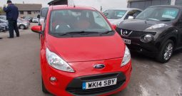 Ford Ka 1.2 ( 69ps ) 2013MY Zetec, 3DR, H/B, RED, 25000 MILES ONLY, £30 ROAD TAX, VERY CLEAN EXAMPLE