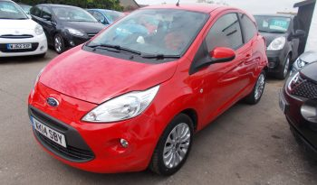 Ford Ka 1.2 ( 69ps ) 2013MY Zetec, 3DR, H/B, RED, 25000 MILES ONLY, £30 ROAD TAX, VERY CLEAN EXAMPLE full