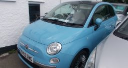 Fiat 500 1.2 ( 69bhp ) ( s/s ) LOUNGE, 3DR, H/B,BLUE, 25000 MILES ONLY, £30 ROAD TAX, VERY CLEAN EXAMPLE