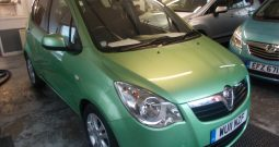 Vauxhall/Opel Agila 1.2 2011MY SE, 5DR, H/B, GREEN MET, 38000 MILES ONLY, £30 ROAD TAX, VERY CLEAN EXAMPLE