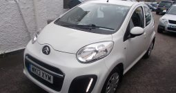 Citroen C1 1.0i 68 2012MY VTR, 5DR, H/B, WHITE, 27000 MILES ONLY, £0 ROAD TAX, VERY CLEAN EXAMPLE