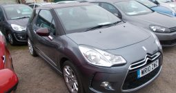 Citroen DS3 1.6HDi 110 DSport, 3DR, H/B, GREY MET, LOW MILES, £30 ROAD TAX, VERY CLEAN EXAMPLE