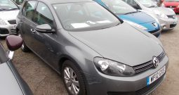 Volkswagen Golf 1.6TDI ( 105ps ) 2012MY Match, 5DR, H/B, GREY MET, LOW MILES, £30 ROAD TAX, VERY CLEAN EXAMPLE