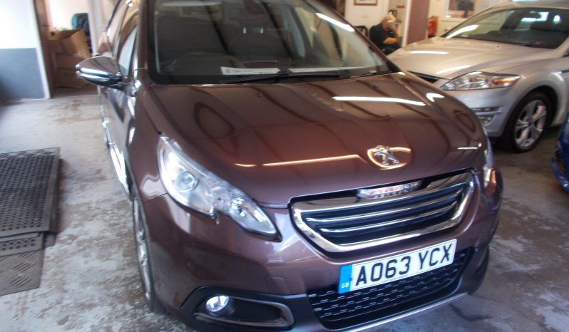 Peugeot 2008 Crossover 1.6e-HDi ( 92bhp ) ( s/s ) Feline Mistral Ambience, 5DR, H/B, BRONZE MET, 48000 MILES ONLY, £20 ROAD TAX, FULL LEATHER, PANORAMIC ROOF, VERY CLEAN EXAMPLE full