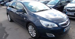 Vauxhall/Opel Astra 2.0TD ( 158bhp ) 2011MY SE, ESTATE, 5DR, H/B, BLUE MET, 33000 MILES ONLY, HALF LEATHER, VERY CLEAN EXAMPLE