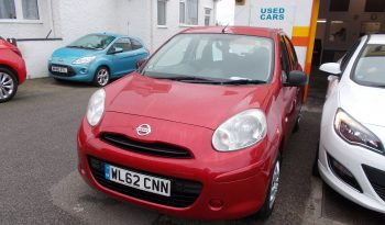 Nissan Micra 1.2 12v ( 79bhp ) ( a/c ) ( 2011 ) Visia, 5DR, H/B, RED MET, 44000 MILES ONLY, £30 ROAD TAX full