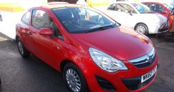 Vauxhall/Opel Corsa 1.0i 12v ( 65ps ) ecoFLEX 2012.5MY Expression, 3DR, H/B, RED, 16000 MILES ONLY, £30 ROAD TAX, VERY CLEAN EXAMPLE