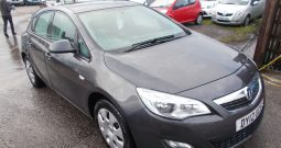 Vauxhall/Opel Astra 1.6i VVT 16v ( 115ps ) auto 2012.5MY Exclusiv, 5DR, H/B, GREY MET 49000 MILES ONLY, VERY CLEAN EXAMPLE
