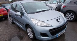 Peugeot 207 SW 1.6HDI 90 ( a/c ) ( 09 ) S, 5DR, H/B, BLUE MET, LOW MILES, £30 ROAD TAX, VERY CLEAN EXAMPLE