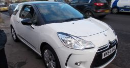 Citroen DS3 1.2 PureTech ( 82bhp ) 2014.5MY DSign Plus, 3DR, H/B, WHITE WITH BLACK ROOF, 23000 MILES ONLY, £20 ROAD TAX, VERY CLEAN EXAMPLE