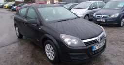 Vauxhall/Opel Astra 1.4i 16v 2006MY Club, 5DR, H/B, BLACK MET, VERY CLEAN EXAMPLE