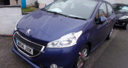 Peugeot 208 1.2 VTi ( 82bhp ) 2014MY Active, 5DR, H/B, BLUE MET, 48000 MILES ONLY, CORNISH, VERY CLEAN EXAMPLE