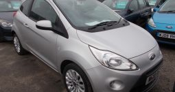 Ford Ka 1.2 2010.5MY Zetec, 3DR, H/B, SILVER MET, 29000 MILES ONLY, FULL LEATHER, £30 ROAD TAX, VERY CLEAN EXAMPLE