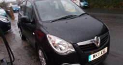 Vauxhall/Opel Agila 1.2 2011MY SE, 5DR, H/B, BLACK MET, 38000 MILES ONLY, £30 ROAD TAX, VERY CLEAN EXAMPLE
