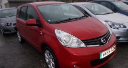Nissan Note 1.5dCi ( 86ps ) N-TEC, 5DR, H/B, RED MET, LOW MILES, £30 ROAD TAX