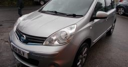 Nissan Note 1.4 16v 2011MY N-TEC, 5DR, H/B, SILVER MET, 55000 MILES ONLY, VERY CLEAN EXAMPLE