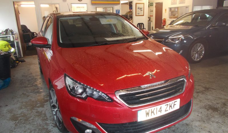 Peugeot 308 1.6e-HDi ( 115bhp ) ( s/s ) 2014MY Feline, 5DR, H/B, RED MET, LOW MILES, HALF LEATHER, PANORAMIC ROOF,  £0 ROAD TAX, VERY CLEAN EXAMPLE full