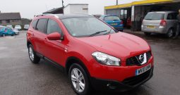 NISSAN QASHQAI PLUS 2 1.6N-TEC, 5DR, H/B, RED, 7 SEATER, VERY CLEAN EXAMPLE