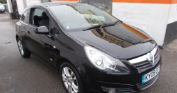 VAUXHALL CORSA 1.2 SXI, 3DR, H/B, BLACK MET, 56000 MILES ONLY, VERY CLEAN EXAMPLE