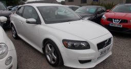 VOLVO C30 1.6 DIESEL R-DESIGN, 3DR, H/B, WHITE, LOW MILES, FULL LEATHER, VERY CLEAN EXAMPLE