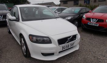 VOLVO C30 1.6 DIESEL R-DESIGN, 3DR, H/B, WHITE, LOW MILES, FULL LEATHER, VERY CLEAN EXAMPLE full