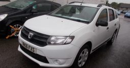DACIA LOGAN 1.5 DCI TURBO DIESEL AMBIANCE, 5DR, ESTATE, WHITE, 49000 MILES ONLY, £0 ROAD TAX