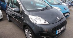 Peugeot 107 1.0 12v ( 68bhp ) 2013.5MY Active, 5DR, H/B, GREY MET, 35000 MILES ONLY, £0 ROAD TAX, VERY CLEAN EXAMPLE