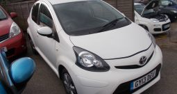 Toyota AYGO 1.0 ( 67bhp ) 2012MY AYGO Fire, 5DR, H/B, WHITE, 50000 MILES ONLY, £0 ROAD TAX, CHEAP TO INSURE
