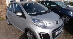 Citroen C1 1.0i 68 2012MY VTR, 5DR, H/B, SILVER MET, 43000 MILES ONLY, £0 ROAD TAX, VERY CLEAN EXAMPLE