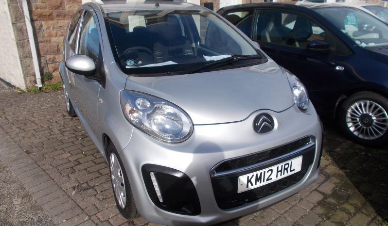 Citroen C1 1.0i 68 2012MY VTR, 5DR, H/B, SILVER MET, 43000 MILES ONLY, £0 ROAD TAX, VERY CLEAN EXAMPLE full