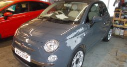 FIAT 500 1.2 LOUNGE, 3DR, H/B, GREY, 49000 MILES ONLY, £30 ROAD TAX, VERY CLEAN EXAMPLE