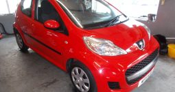 PEUGEOT 107 1.0 URBAN, 5DR, H/B, RED, 53000 MILES ONLY, £20 ROAD TAX, VERY CLEAN EXAMPLE
