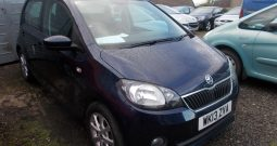 SKODA CITYGO 1.0 GREENTECH ELEGANCE, 5DR, H/B, BLUE MET, LOW  MILES,  £0 ROAD TAX