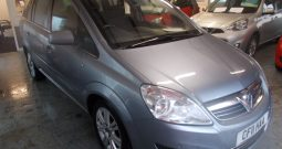 VAUXHALL ZAFIRA 1.7 CDTI ELITE ECOFLEX, 5DR, H/B, 7 SEATER, SILVER MET, FULL LEATHER, VERY CLEAN EXAMPLE, LOW MILES