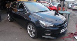 VAUXHALL ASTRA 1.4 TURBO LIMITED EDITION, 5DR, H/B, BLACK MET, LOW MILES, HALF LEATHER, VERY CLEAN EXAMPLE