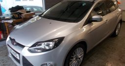 FORD FOCUS 1.0 ECOBOOST ZETEC, 5DR, H/B, LOW MILES, SILVER MET, £30 ROAD TAX