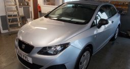 SEAT IBIZA 1.2 TDI CR S, 3DR, H/B, SILVER MET, 63000 MILES ONLY, £20 ROAD TAX