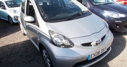 TOYOTA AYGO 1.0 PLATINIUM, 5DR, H/B, SILVER MET, 56000 MILES ONLY, £20 ROAD TAX, VERY CLEAN EXAMPLE