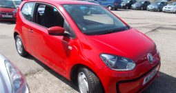 VW MOVE UP 1.0 BLUEMOTION, 3DR, H/B, RED, LOW MILES, £0 ROAD TAX, VERY CLEAN EXAMPLE