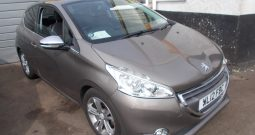 PEUGEOT 208 1.4 HDI ALLURE, 3DR, H/B, CHAMPAGNE MET, 58000 MILES ONLY, VERY CLEAN EXAMPLE, HALF LEATHER, £0 ROAD TAX