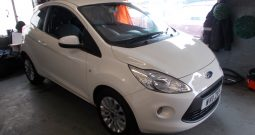 FORD KA 1.2 ZETEC, 3DR, H/B, WHITE, LOW MILES, £30 ROAD TAX, VERY CLEAN EXAMPLE