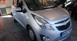 CHEVROLET SPARK 1.0 LS, 5DR, H/B, SILVER MET, LOW MILES, £30 ROAD TAX, VERY CLEAN EXAMPLE
